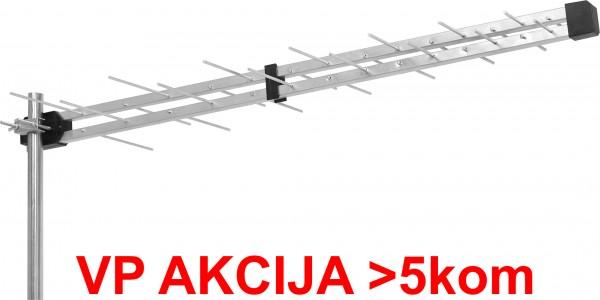GMB-28EK ** Antena Loga UHF sa F konektorom 28 elemenata, duina 98cm, dobit 8 dB aluminium (483)