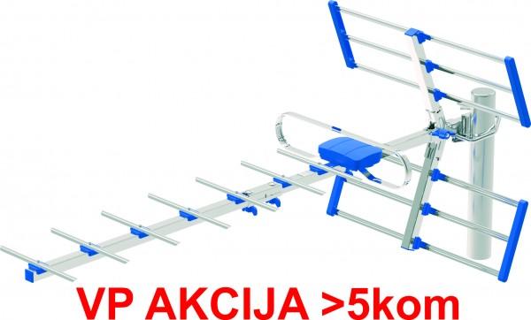 GMB-2814R ** Antena digital HDTV Loga UHF, F-Konektor, duina 84cm, dobit 12 dB aluminium (560)