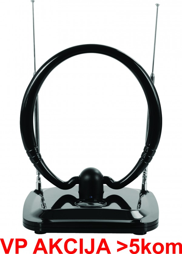 GMB-034B4 ** Antena sobna sa pojacalom, UHF/VHF, dobit 20dB, 12V crna (806)