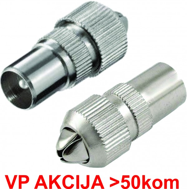 CON-RFMA ** IEC  male connector, Zinc Alloy min.25kom (17,6)