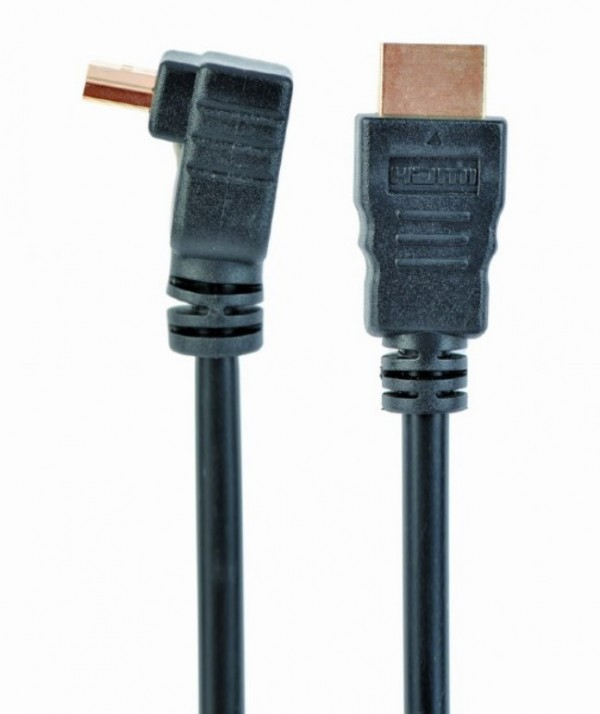 CC-HDMI490-10 Gembird HDMI kabl v.2.0 3D/4K TV konektor pod uglom 90 stepeni 3m