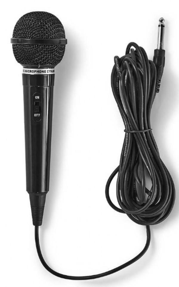 MPWD01BK Karaoke mikrofon, 6.35mm -75dB Sensitivity, 80Hz-12kHz +/-3dB, 5.0m