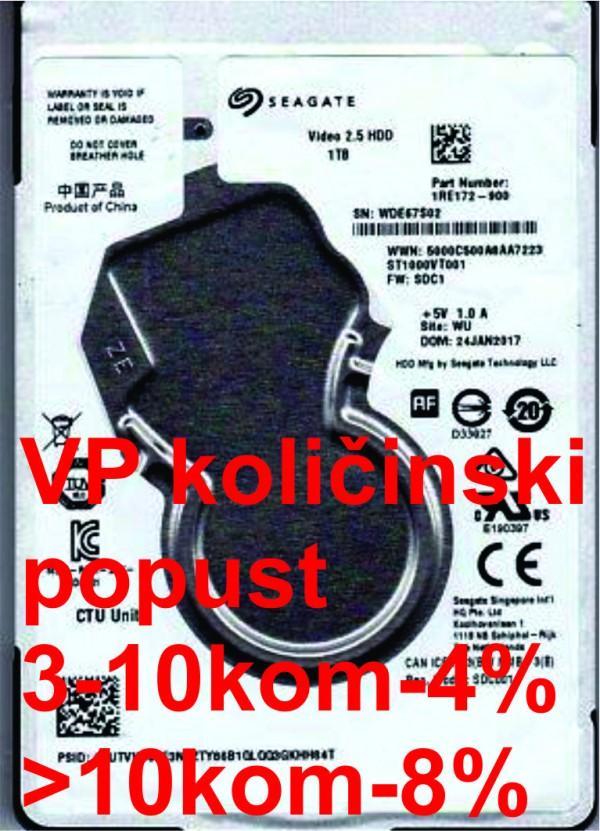 HDD 2.5'' ** 1TB ST1000VT001 SEAGATE 5400RPM 128MB SATA3