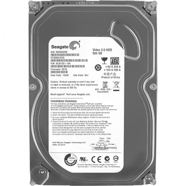 HDD 3.5'' * 500GB ST3500312CS SEAGATE 5900RPM 8MB SLIM SATA