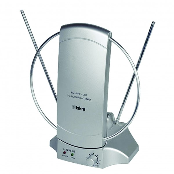 Antena Iskra G2235-06 sobna sa pojacalom, UHF/VHF, dobit 36dB, 220v + 12v FO