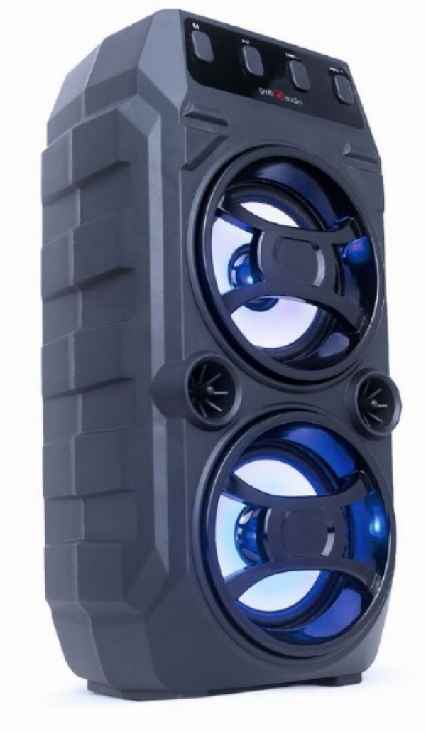 SPK-BT-13 Gembird Portable Bluetooth karaoke speaker 2x5W, FM, USB, SD, 3,5mm, MIC 6,35mm, LED,black