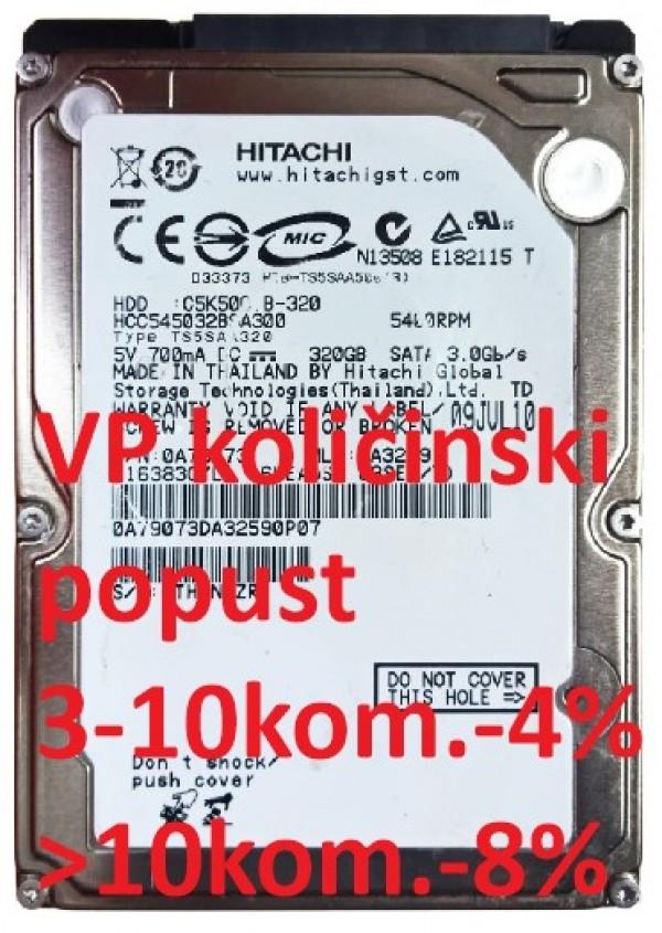 HDD 2.5'' ** 320GB HCC545032B9A300 HITACHI 5400RPM 8MB SATA 9,5mm