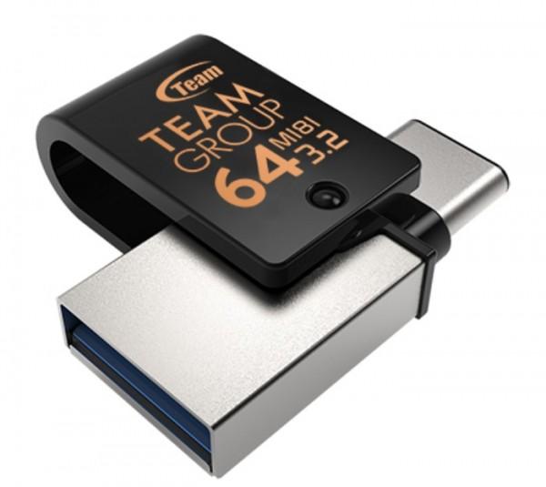 TeamGroup 64GB M181 USB 3.1 + Type C BLACK TM181364GB01 FO