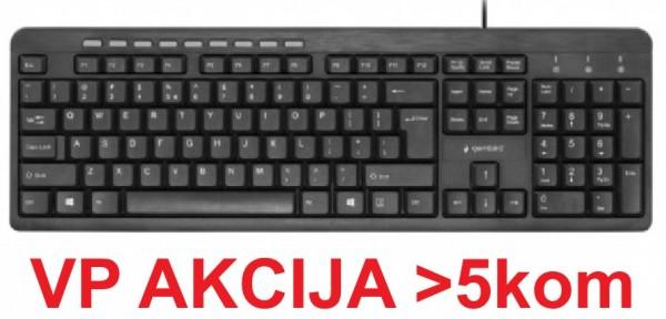 KB-UM-106 ** Gembird Multimedijalna tastatura US layout black USB (344)