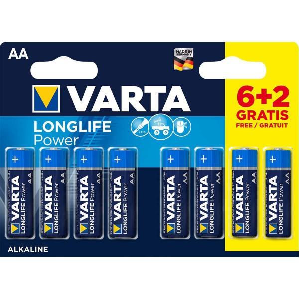 VARTA-4906SO AA 1.5V LR6  MN1500, PAK8 CK, ALKALNE baterije LONGLIFE