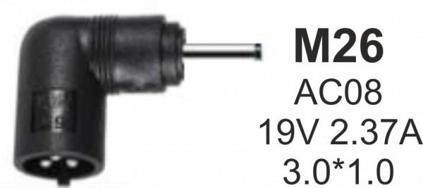 NPC-AC08 (M26) Gembird konektor za punjac 65W-19V-2.37A, 3.0*1.1mm