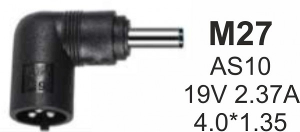 NPC-AS10 (M27) Gembird konektor za punjac 45W-19V-2.37A, 4.0*1.35mm