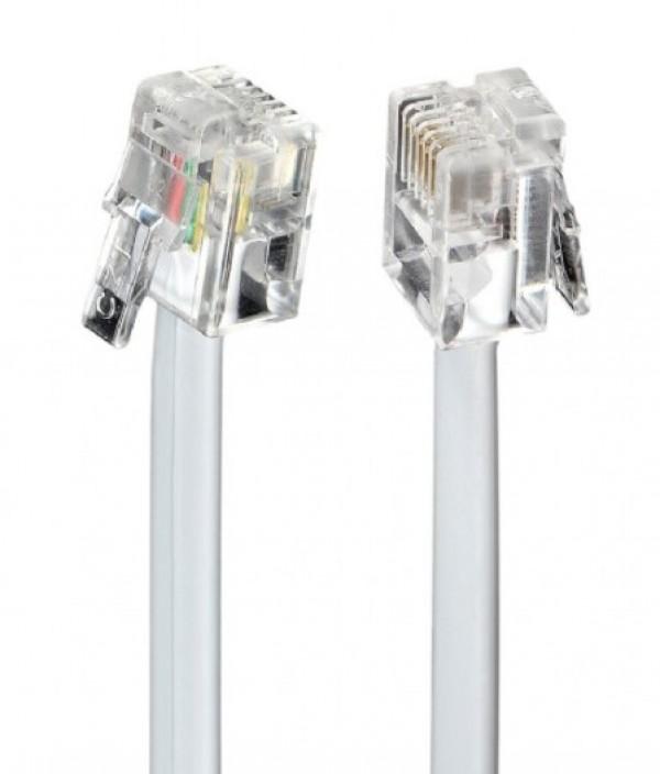 TC6P4C-5M Gembird Telefonski kabl 5m White