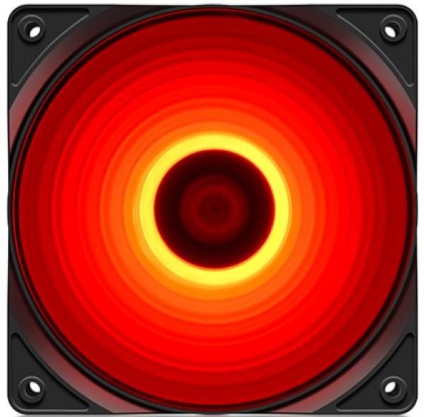 DeepCool RF120R 120x120x25mm ventilator RED LED hydro bearing 1300rpm 49CFM 22dBa
