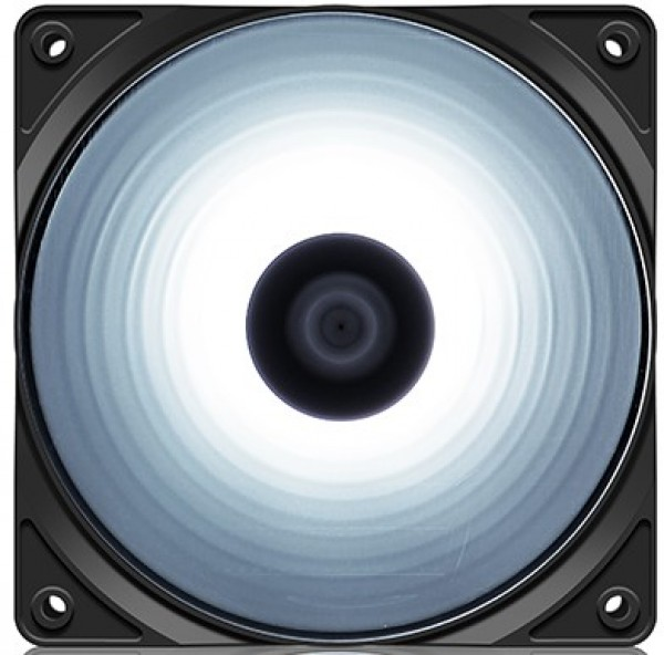 DeepCool RF120W 120x120x25mm ventilator WHITE LED hydro bearing 1300rpm 49CFM 22dBa