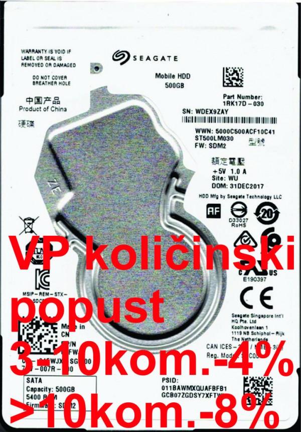 HDD 2.5'' ** 500GB ST500LM030 SEAGATE 5400RPM 128MB SATA3.. Refurbished 2y