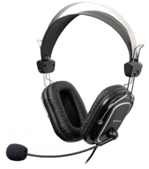 A4-HS-50 A4Tech Gejmerske slusalice sa mikrofonom. 32ohm, black, 2x3.5mm