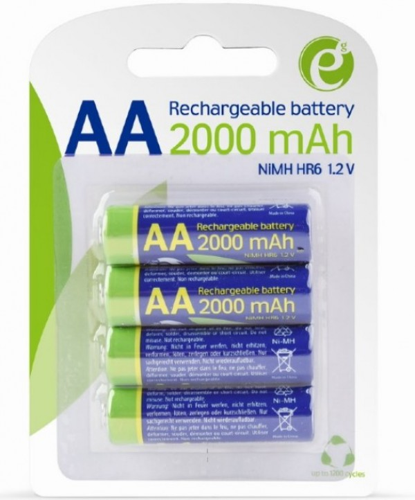 EG-BA-AA20R4-01 ENERGENIE 2000mAh AA, PAK4 CK, ready-to-use PUNJIVE NiM baterije (rec