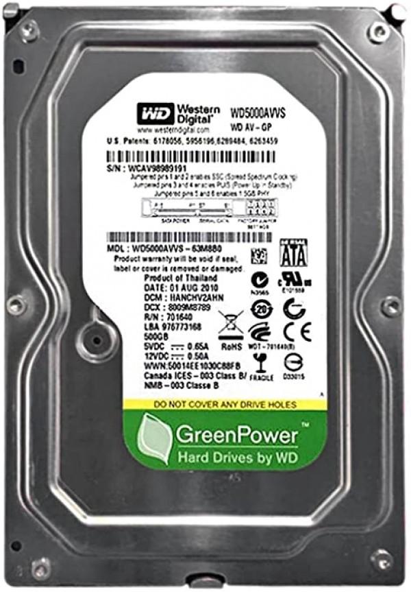 HDD 3.5'' * 500GB WD5000AVVS WD AV-GP GREEN 5400RPM 8MB SATA (1199)