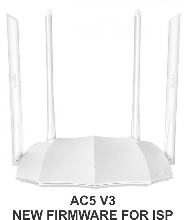 Tenda AC5 v3 AC1200 wireless dual band ruter 2.4+5GHz, 1W/3L 10/100, 1Ghz cpu, 4x5dBi ,9v/1