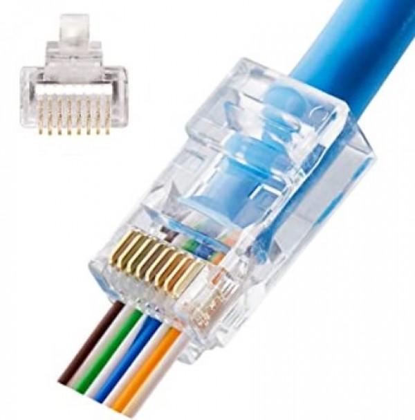 LC-PTF-01/100CAT6 LAN UTP kategorije 6 EZ KONEKTOR PNP88FZv2-R RJ45 (100 komada pakovanje)