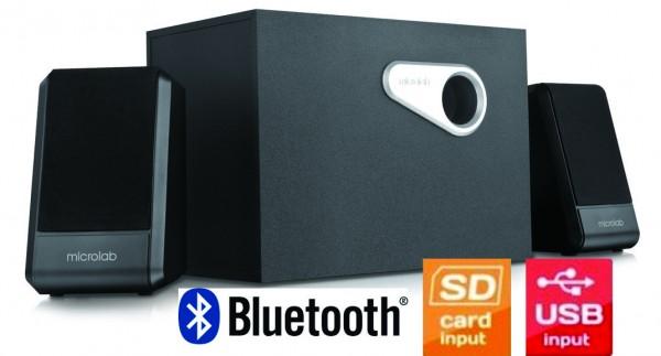 Microlab M-280BT Aktivni drveni zvucnici 2.1 35W RMS(15W, 2x10W) SD, USB, BLUETOOTH , 3.5mm