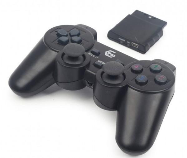 JPD-WDV-01 Gembird Bezicni gamepad sa dvostrukom vibracijom, PS2 / PS3 / PC