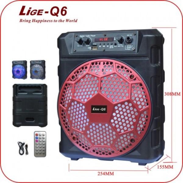 ZVUCNIK Karaoke Bluetooth, Radio, USB akumulatorski LIGE Q6 10W, 12V 1800mAh