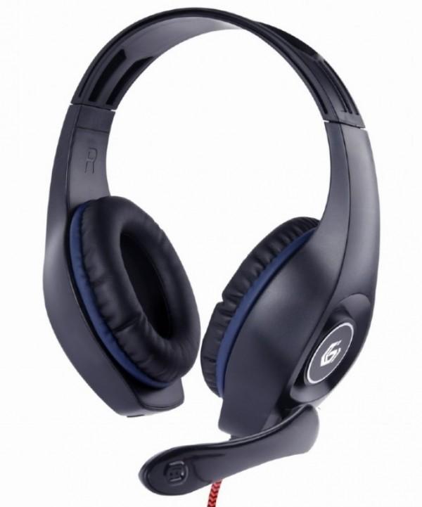 GHS-05-B Gembird Stereo gejmerske slusalice sa mikrofonom+volume kontrolom 3.5mm BLUE