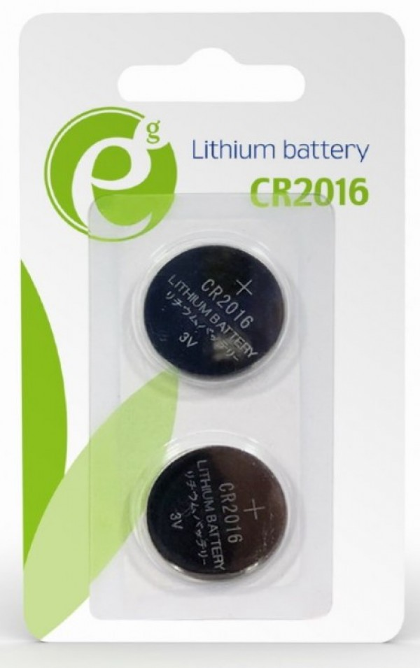 EG-BA-CR2016-01 ENERGENIE CR2016 Lithium button cell 3V PAK2