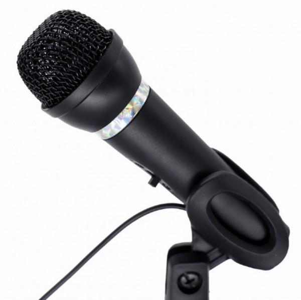 MIC-D-04 Gembird kondenzatorski mikrofon sa stalkom 3,5mm, black