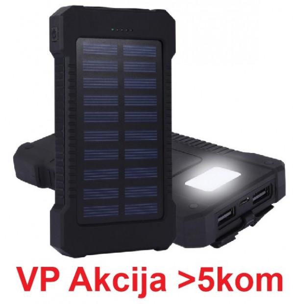 HRD-T12 ** Gembird solar power bank 12000mAh 2xUSB, LED,(899)