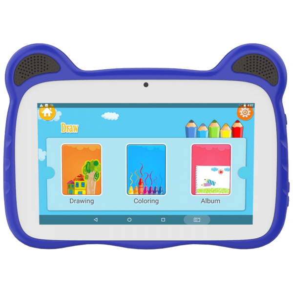 Meanit K10 BLUECAT KIDS Tablet 7'', Android 10.0, Quad Core, 2GB / 16GB