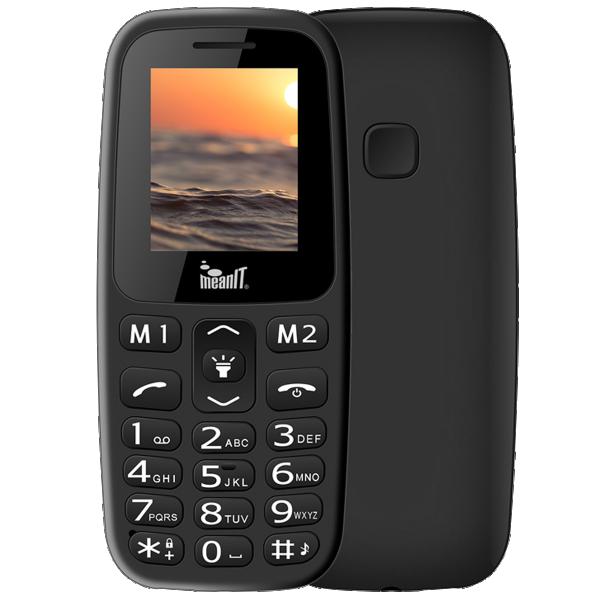 Meanit Mobilni telefon, 1.77'' ekran, Dual SIM, BT, SOS dugme, Crni