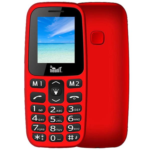 Meanit Mobilni telefon, 1.77'' ekran, Dual SIM, BT, SOS dugme, Crveni