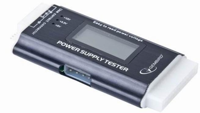 CHM-03 Gembird Power supply tester with LCD screen