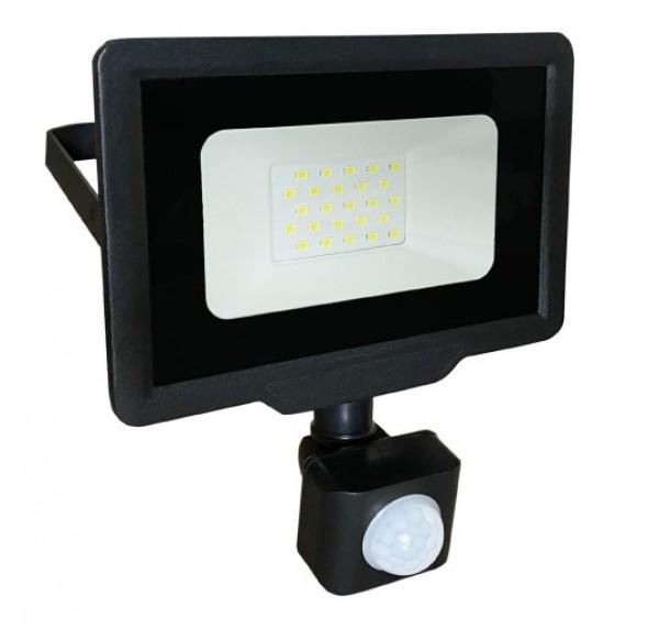 LED reflektor sa PIR senzorom 20W 6500K LRF008SW-20/BK