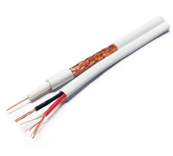 Kabal RG59 + 2x0.75 napojni 100m Bele boje 100m