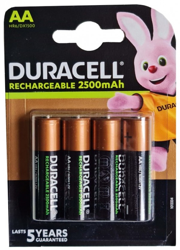 Duracell 2500mAh AA R6 MN1500, PAK4 CK,punjive NiMH baterije (rechargeable Duralock stay charged 5g