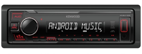 Auto radio Kenwood KMM-105RY FM, USB, 3,5mm, 4x45W