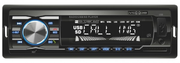 Auto radio SAL VB3100 FM, USB, SD, 3,5mm, Bluetooth, 4x45W