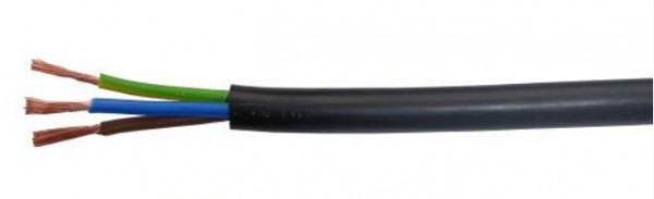 Kabl PPJ 3x1.5 H05VV-F Bakarni Tel-kabl Licnasti, Crni, 100m