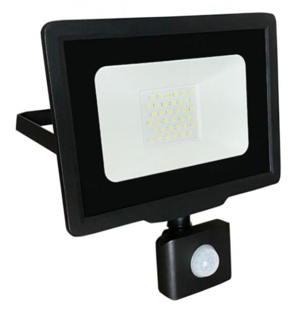 LED reflektor sa PIR senzorom 30W LRF008SW-30/BK