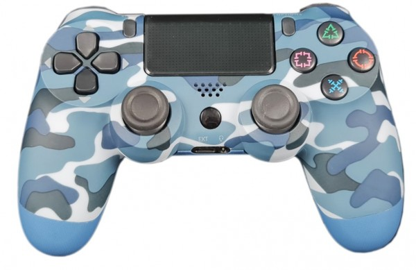 JPD-Wireless-Thrillershock PC/PS4 BLUE CAMO Gembird Bezicni gamepad sa dvostrukom vibracijom