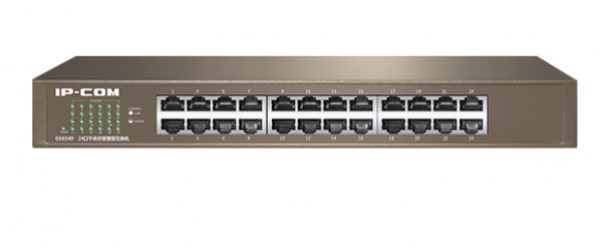 IP-COM G1024D LAN 24-Port 10/100/1000M Base-T Ethernet ports (MDI/MDIX) Desk/rack mount(alt=TEG1024D