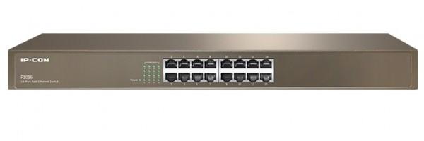 IP-COM F1016 LAN 16-Port 10/100 Switch RJ45 ports Rackmount (alt=TEF1016D)