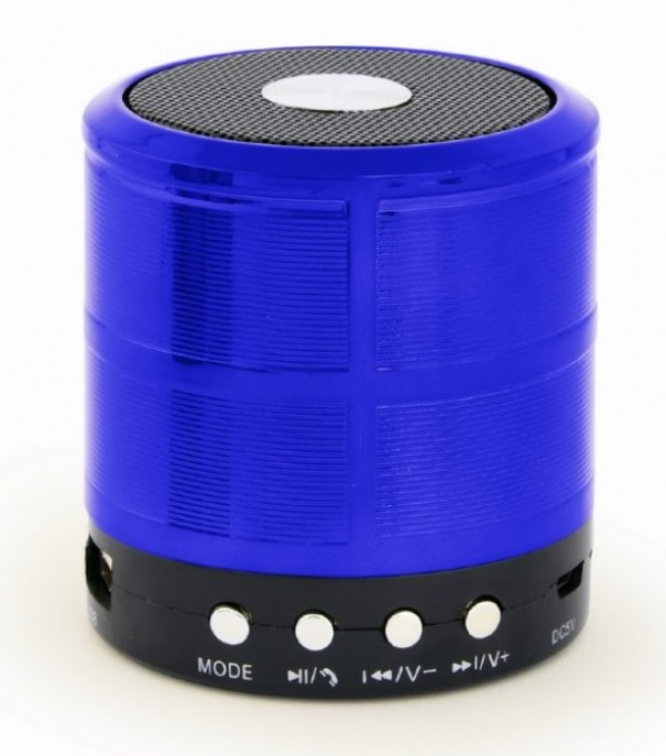 SPK-BT-08-B Gembird Portable Bluetooth speaker +handsfree 3W, FM, microSD, AUX, blue