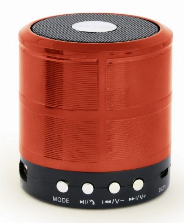 SPK-BT-08-R Gembird Portable Bluetooth speaker +handsfree 3W, FM,  microSD, AUX, red