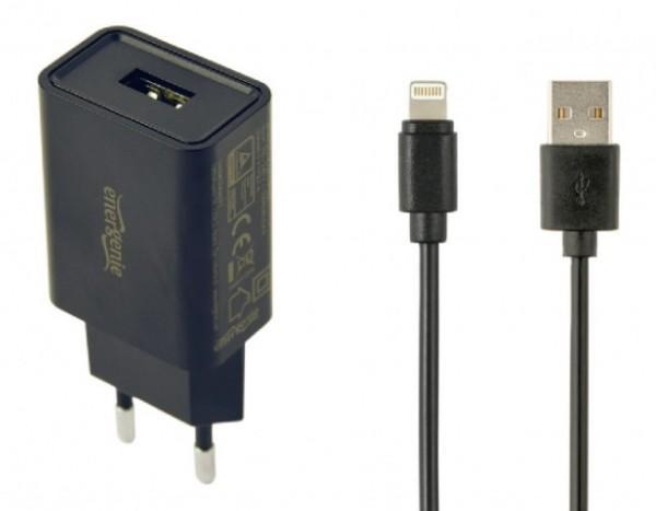 EG-UCSET-8P-MX CRNI Gembird punjac za telefone i tablete iPhone/iPad 5V/2.1A USB +8-pin USB kabl 1M
