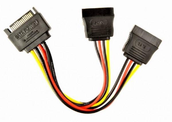 CC-SATAM2F-01 Gembird SATA power splitter cable, 0.15 m